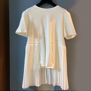 CLANE SIDE PLEATS T-SHIRT(Tシャツ/カットソー(半袖/袖なし))