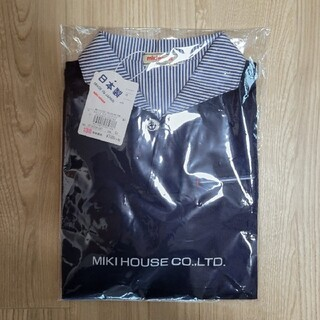 mikihouse - ミキハウス 襟付き半袖Tシャツ130 ネイビー