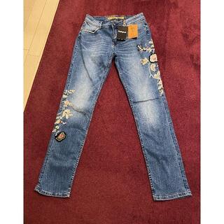 デシグアル(DESIGUAL)のDesigual (デシグアル) スリムジーンズ フラワー刺繍 28インチ(デニム/ジーンズ)