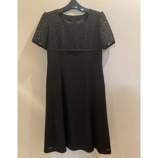 ワンピース 半袖 ブラックフォーマル 礼服 喪服(礼服/喪服)