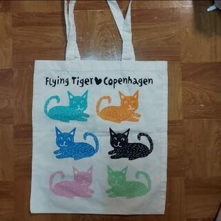 フライングタイガーコペンハーゲン(Flying Tiger Copenhagen)のフライングタイガー 猫柄エコバッグ(エコバッグ)