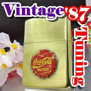 ジッポー(ZIPPO)の№332 ZIPPO カスタム コカ・コーラ Vintage 【I III】 (タバコグッズ)