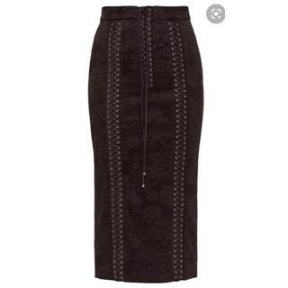ドルチェアンドガッバーナ(DOLCE&GABBANA)の美品 DOLCE&GABBANA ジャガードペンシルスカート40(ひざ丈スカート)