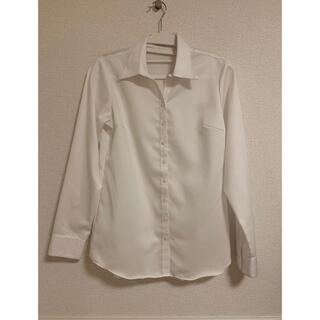 アオヤマ(青山)の白ブラウス 無地 長袖 レディース ワイシャツ (シャツ/ブラウス(長袖/七分))