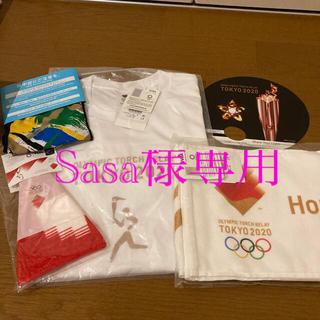 2020 オリンピックTシャツ。聖火リレーエンブレム