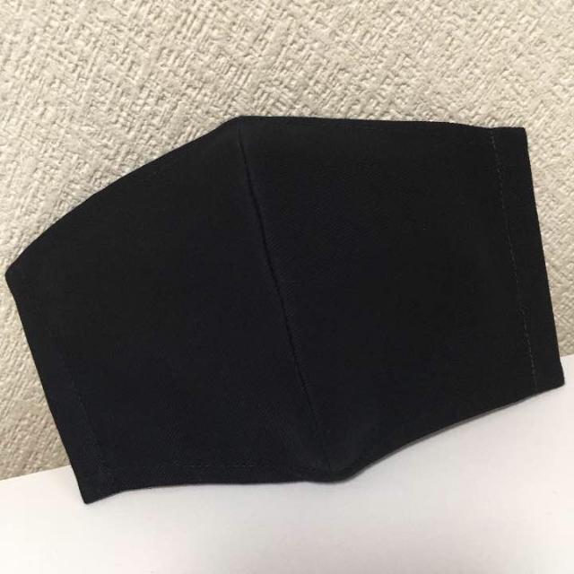 立体ガーゼマスク ブラック 大人用 ハンドメイドのファッション小物(その他)の商品写真