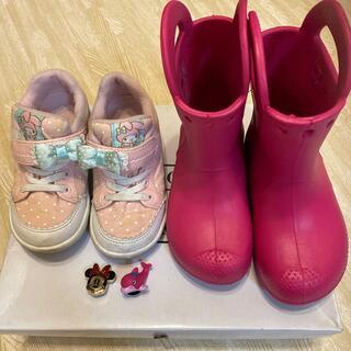 クロックス(crocs)のまとめ売り クロックス レインブーツ マイメロ シューズ 17cm 17.5cm(長靴/レインシューズ)