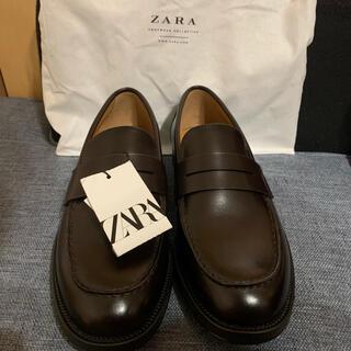 ZARA - 新品未使用 ZARA ザラ ペニーモカシン ローファー ブラウン