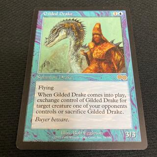 マジックザギャザリング(マジック:ザ・ギャザリング)の《金粉のドレイク/Gilded Drake》[USG] 青R(シングルカード)