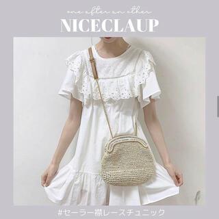 NICE CLAUP - セーラー襟チュニックレース