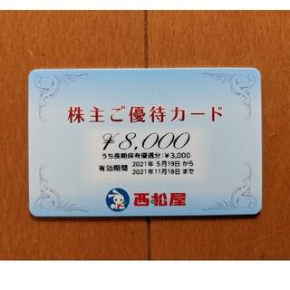 未使用! 西松屋株主優待カード 1枚8000円分