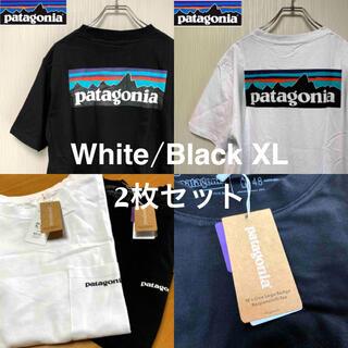 patagonia - 【新品】patagonia パタゴニア Tシャツ 白/黒 XL 【セット】