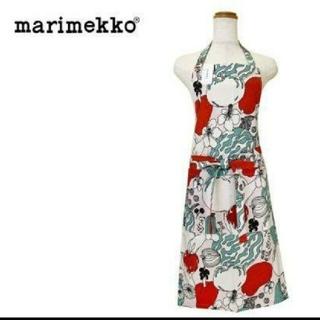 マリメッコ(marimekko)の【新品・未使用】marimekko エプロン ウエストストラップ ポケット付き(その他)