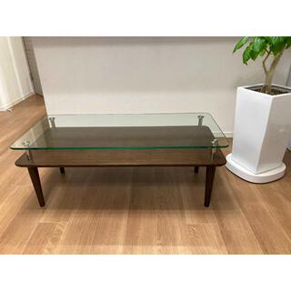 ACTUS - アクタス ガラス センターテーブル ローテーブル