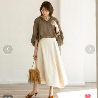 ノーブル(Noble)のNOBLE ボンディングサテンサーキュラースカート(ロングスカート)