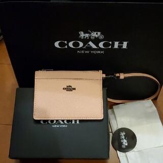 COACH - COACH 本物 コーチ パスケース カードケース ピンク 革