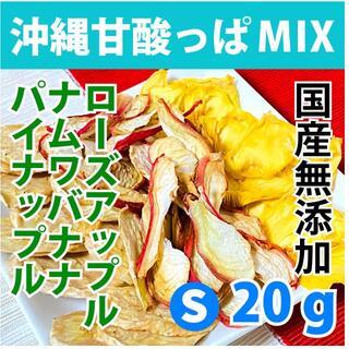 S ドライバナナ・レンブ・パインMIX 国産無添加 砂糖不使用 ドライフルーツ(フルーツ)