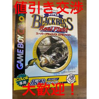 ゲームボーイ(ゲームボーイ)の箱付き 説明書付き ゲームボーイソフト 送料込み スーパーブラックバス(携帯用ゲームソフト)
