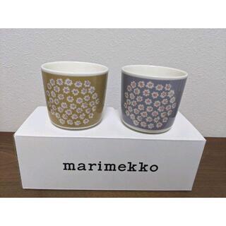 マリメッコ(marimekko)のマリメッコ  ラテマグ プケッティ 2個 新品   (グラス/カップ)