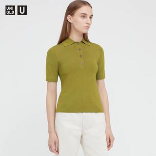 ユニクロ(UNIQLO)のユニクロユー  ビスコースブレンドニットポロシャツ(ポロシャツ)