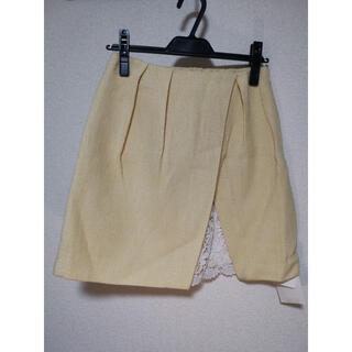 マーキュリーデュオ(MERCURYDUO)の通常価格12,100円 MERCURYDUO ツイードレース切替ミニスカート(ひざ丈スカート)