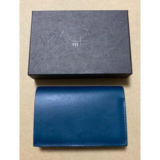エムピウ(m+)の財布 ブッテーロレザー ブルー ストラッチョ ◆ エムピウ m+ 【送料無料】(折り財布)