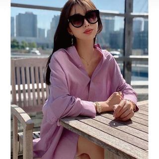 エイミーイストワール(eimy istoire)のバックオープンビックシャツ coral pink(シャツ/ブラウス(長袖/七分))