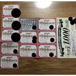 21年12 500円割引券10枚5000 ラウンドワン 株主優待 シルバー(その他)