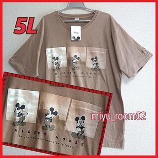 ミッキーマウス(ミッキーマウス)の【新品☆】ミッキー Tシャツ(半袖)ゆったり☆5L(Tシャツ/カットソー(半袖/袖なし))