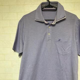 カンゴール(KANGOL)のカンゴール KANGOL ポロシャツ Lサイズ 薄紫 状態良(ポロシャツ)