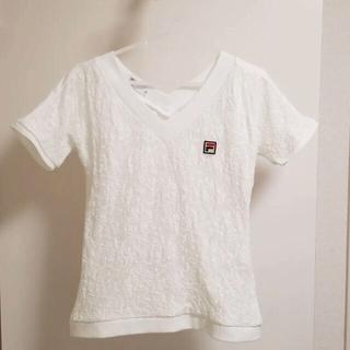 フィラ(FILA)のFILA フィラ レース白Tシャツ Mサイズ(ウェア)