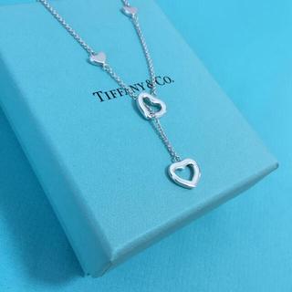 ティファニー(Tiffany & Co.)のTiffany & Co. ハートリンク ラリアット ネックレス シルバー(ネックレス)