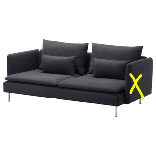 IKEA - IKEA SÖDERHAMN ソーデルハムン 新品 ソファカバー ダークグレー