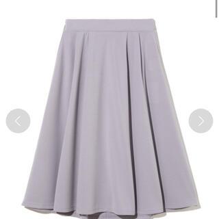 グレイル(GRL)のグレイル ジョーゼットスカート パープル(ひざ丈スカート)