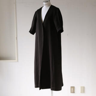 RIM.ARK Puffsleeve long gown black 36(ロングコート)
