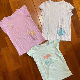 UNIQLO - アナ雪 アリエル ラプンツェル Tシャツ 130 未使用