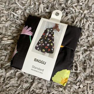 EDIT.FOR LULU - BAGGU エコバッグ スタンダード ブラックワイルドフラワー