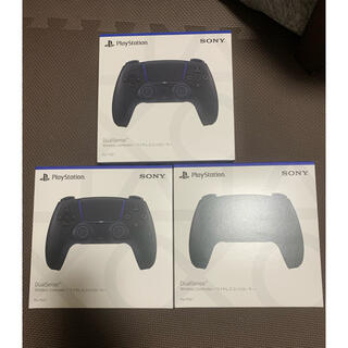 プレイステーション(PlayStation)のPS5 デュアルセンス ミッドナイトブラック 新品未開封 3台まとめ売り(家庭用ゲーム機本体)