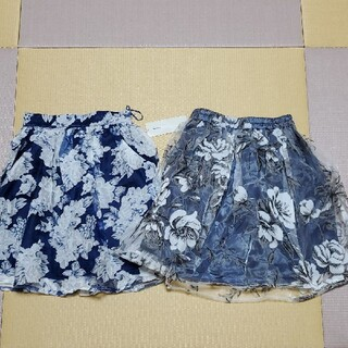 オリーブデオリーブ(OLIVEdesOLIVE)のオリーブデオリーブ スカート 2枚まとめ売り M 新品未使用(ひざ丈スカート)