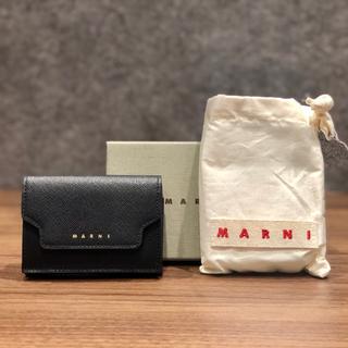 Marni - マルニ トリフォールド 折りたたみ財布 ブラック
