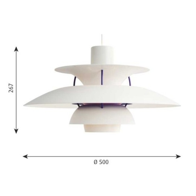 ACTUS(アクタス)の【にゅいさん専用】ルイスポールセン・PH5 クラシックホワイト インテリア/住まい/日用品のライト/照明/LED(天井照明)の商品写真