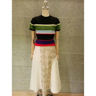 ENFOLD - エンフォルド 刺繍スカート enfold
