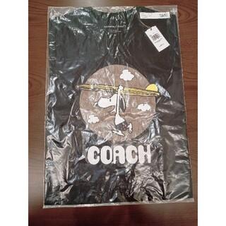 コーチ(COACH)のCOACH×PEANUTS  スヌーピー シグネチャー Tシャツ ブラック M(Tシャツ/カットソー(半袖/袖なし))