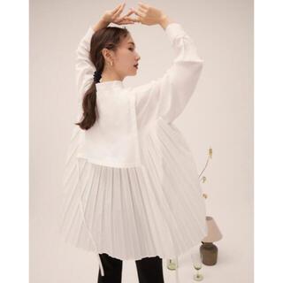 FRAY I.D - RANDEBOO Pleats cape shirts(white)
