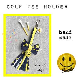 パーリーゲイツ(PEARLY GATES)のゴルフ ティーホルダー リボンニコちゃん スカート ベルト ポロシャツ にも❣️(ウエア)