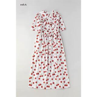 ジェーンマープル(JaneMarple)の2021年 Skipping cherries リボンワンピース(ひざ丈ワンピース)