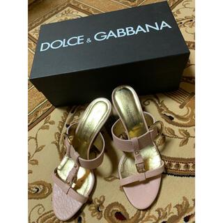 ドルチェアンドガッバーナ(DOLCE&GABBANA)のDOLCE&GABBANAサイズ36サンダルミュール靴パンプス(ハイヒール/パンプス)