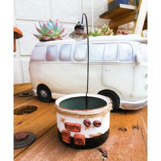 R0719a ランプのまちのリメ缶A☆コーヒーカフェ 1個(リメ缶・リメ鉢)(その他)