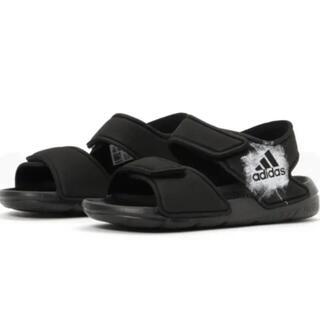 adidas - adidas サンダル キッズ ブラック 12cm