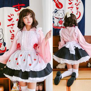 和メイド服ゴスロリ セク シー 可愛い かわいいパニエ付きセットアップ(衣装一式)